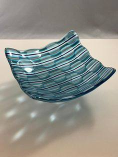 Fused Glass Optical Illusion Bowl by InspiredFiredGlass on Etsy