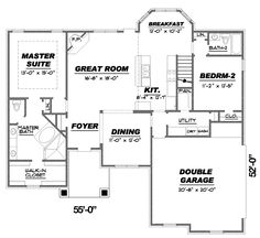 Bungalow Cottage Country Craftsman Traditional House Plan 67154 Level One