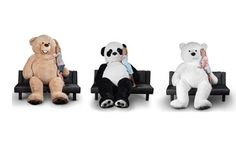 Groupon - Giant 8ft. Teddy Bear, Panda Bear, or Polar Bear. Groupon deal price: $119.99
