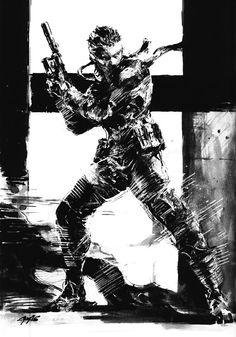 Solid Snake Black & White 2