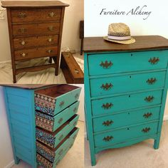 Indian Inspired Antique Dresser Makeover
