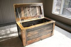 Indoor/ Outdoor Storage Box Made to Order by UpcycledWoodworks, $250.00