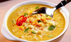 Sopa de grão-de-bico picante