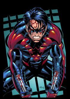 Nightwing New 52 Pencil: Scott McDaniel. Inks: David CJ  Colors by BRYAN ARFEL MAGNAYE