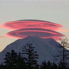Lenticular Clouds over Mt. Rainier, WA - Michael Brehman