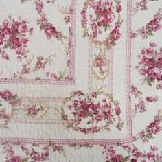 @Overstock - Give your bedroom a classic look with this rose-print queen-size quilt set from Shabby Chic. The rose pattern print is made up of deep rose and pink-toned burgundy colors that fits well with the bright wood finishes used on many traditional furnishings.http://www.overstock.com/Bedding-Bath/Shabby-Chic-Vintage-Rose-Cotton-Full-Queen-size-Quilt-Set/6156894/product.html?CID=214117 $57.99