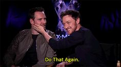 James McAvoy and Michael Fassbender in an interview for Days of Future Past.