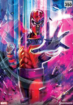 Magneto Fine Art Print by Orlando Arocena | Sideshow Collectibles Sideshow Collectibles, Fine Art Prints, Marvel, Art Prints