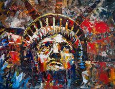 'Liberty' acrylic on canvas - Steve Penley