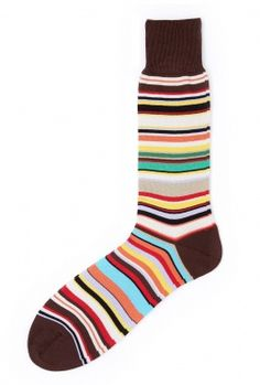 Multi Stripe Classic Sock by Paul Smith Accessories