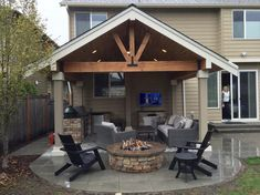Small Covered Patio, Backyard Covered Patios, Covered Patio Design, Covered Patio Plans, Covered Deck Designs, Covered Porches, Outdoor Patios, Patio Extension Ideas, Backyard Patio Designs