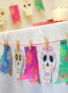 DIY: Banner for Día de los Muertos - mom.me