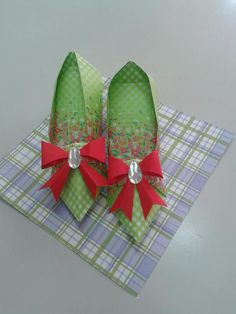 Origami shoes folded by me