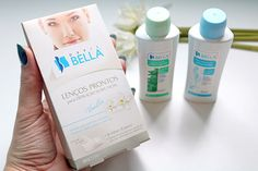 Lenços prontos para depilação facial, adstringente e óleo removedor Depil Bella