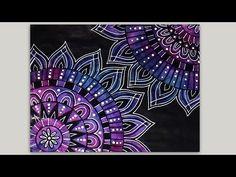 Mandala Painting Process - Acrylic Painting Triptych Timelapse - Zendalada by Barbara Din - YouTube