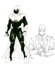 Moon Knight sketches by Ron Ackins Comic Book Artists, Comic Book Characters, Marvel Characters, Comic Character, Comic Books Art, Comic Art, Character Concept, Concept Art, Marvel Comics Art