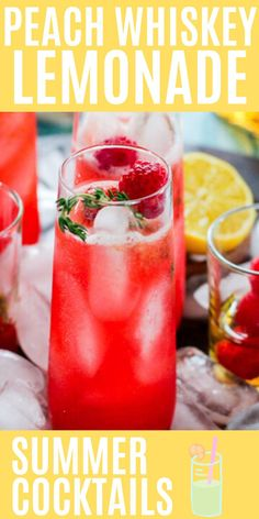 Whiskey Lemonade, Peach Whiskey, Lemonade Cocktail, Whiskey Cocktails, Frozen Cocktails, Summer Cocktails, Weight Loss Drinks, Weight Loss Smoothies, Lime Infused Water