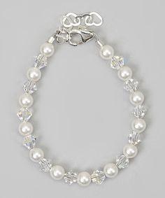 Loving this Crystal Dream White & Clear Swarovski® Crystal & Sterling Silver Bracelet on #zulily! #zulilyfinds