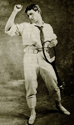 Vaslav Nijinsky in Jeux. 1913. Ballet choreographed by Vaslav Nijinsky. Music composed by Claude Debussy