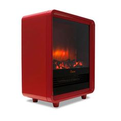 Stay warm this winter with our Red Electric Fireplace Heater ! I want this!