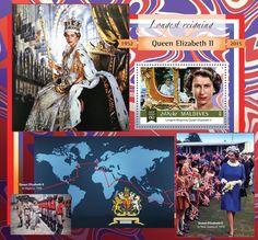 Post stamp Maldives MLD b Longest Reigning Queen Elizabeth II Queen Elizabeth Ii, Maldives, Stamps, Miniatures, Postcards, Coins, Movie Posters, British, Art