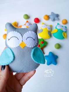shop: Baby Crib Toys forest nursery decor Felt Owls ornament baby shower woodland decor baby animals felt baby mobile woodland animals nursery Excited to share this item from my Owl Ornament, Baby Ornaments, Felt Christmas Ornaments, Woodland Animal Nursery, Forest Nursery, Woodland Animals, Baby Owls, Baby Animals, Owl Mobile