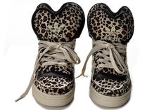 best sneakers 7d5af 22270 Adidas Attitude Logo Double Heart Tongue Leopard Shoes. lalala Piutiu · Adidas  Jeremy Scott 2014
