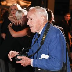 The NYT's Bill Cunningham as he photographs guests arriving for #Dior's Pret-A-Porter Collection dinner. What an inspiration! His work is legendary, but it's second to his humility and kindness. #BillCunningham