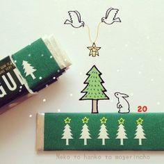 Sweet #Christmas green gum☆ #packaging PD