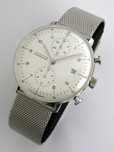Junghans Max Bill Chronoscope with beautiful convex glass. An epic watch.