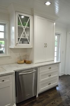 The Cape Cod Ranch Renovation. Add cross detail to a solid door front.