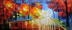 Original Abstract Painting Palette Knife Painting Impasto Landscape