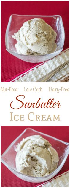 Sunbutter Sugar Free Dairy Free Ice Cream Recipe Like sunflower seed butter? Try this nut and dairy free sunbutter ice cream. Healthy full fat coconut milk makes it creamy. Low carb and sugar free! Dairy Free Ice Cream, Low Carb Ice Cream, Healthy Ice Cream, Low Carb Deserts, Low Carb Sweets, Dairy Free Low Carb, Dairy Free Recipes, Scd Recipes, Gluten Free