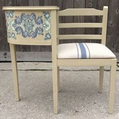 Vintage telephone table or gossip bench has been painted in a soft jade, distressed and glazed and coordinating spring-y floral fabric. Description from pinterest.com. I searched for this on bing.com/images