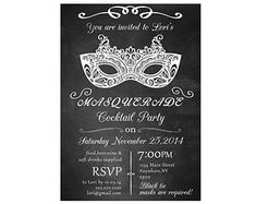 44 best masquerade invitations images on pinterest mask party