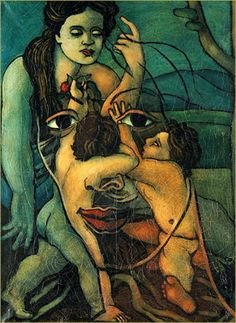 Geminis, 1936 Francis Picabia . Description from Christie's: Painted in 1936, Geminis is one of Francis Picabia's last '...