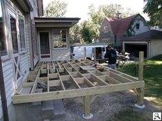 Decking over concrete stairs