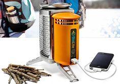 camping, gadget, camp stove, biolit campstov, sticks