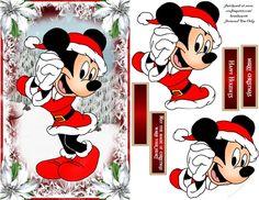 Card Topper, Decoupage , 3 Sentiments plus a blank Disney Halloween, Disney Christmas, Christmas Pictures, Christmas Crafts, Christmas Decorations, Free Printable Cards, Printable Crafts, 3d Cards, Xmas Cards