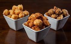 Direto da mesa do bar: as milanesas mais famosas para fazer em casa. Provolone, iscas de frango e azeitonas!
