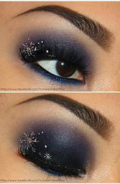 Wouldn't go this dark with the shadow, but I love the glitter in the outer corner of your eye for that glitz and glam feel.