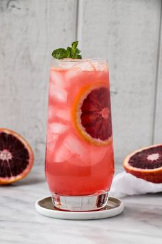 This Blood Orange Gin & Tonic is a refreshing and seasonal spin on a classic G&T! #bloodorange #cocktail #ginandtonic #gincocktails