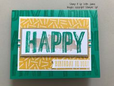 Happy Celebrations Birthday – Stamp It Up with Jaimie