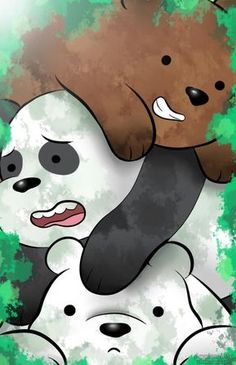 "We Bare Bears - Grizzly ""Grizz"", Panda, Ice Bear We Bare Bears Wallpapers, Panda Wallpapers, Cute Cartoon Wallpapers, Cute Disney Wallpaper, Cute Wallpaper Backgrounds, Wallpaper Iphone Cute, Ice Bear We Bare Bears, We Bear, Digital Foto"