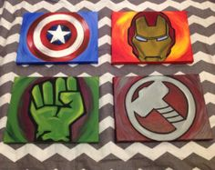 Avengers Paintings Set of 4