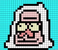 Skips Regular Show Perler Bead Pattern