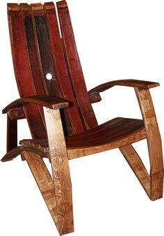 Authenteak Wine Barrel Stave Adirondack Chair