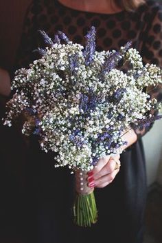 Lavender and Baby's Breath bouquet
