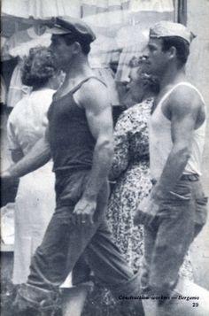 Italian construction workers, 1960s