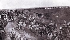 British troops on the march from Chieveley to the Battle of Spion Kop